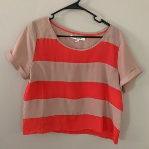 Cropped striped blouse